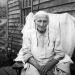 Mrs. May, one of the first members in the Mennonite mission on Crider Mountain, northwest Rockingham County, Virginia, early 20th century (VMC Archives Ida Showalter collection)
