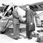 Jacob A. Shenk (right) with Missions Executive J. D. Graber, mid 1940s (Dorothy Jean Weaver photo)