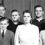 Clayton Godshall family about 1945, North Carolina missions family (Evelyn Nice photo)