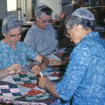 Trissels Mennonite Church women quilting for relief and missions (VMC Archives)