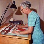 Vivian Coffman worked in Virginia Mennonite Conference offices in the 1960s - 1970s (Glenna Hertzler collection)