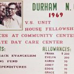 Durham, North Carolina, Frank and Evelyn Nice, missions work, 1969 (VMC Archives)