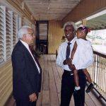 Glendon Blosser with Pastor Collins Grove in Georgetown, Guyana (VMC Archives)