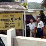 Willard Heatwole and Lloyd Weaver at Ocho Rios Church, Jamaica (VMC Archives)