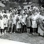 Trinidad fellowship group after worship, 1978 (VMC Archives)