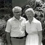 Glendon and Dorothy Blosser in Trinidad Missions Leadership Training, 1983-84 (VMC Archives)
