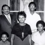 Bishop Leslie Francisco II and his wife Naomi, along with their sons (from left) Myron, Leslie III, and Steven (VMC Archives)