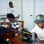 Learning tailoring with donated sewing machines in Guyana (VMC Archives)
