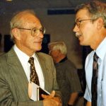 Don Jacobs (left) and Galen Lehman at VMBM meeting, 1997 (VMM Archives)031