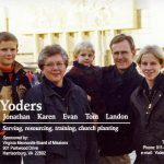 Yoder family served in Albania with VMBM, 1999 (VMM Archives)