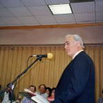 Myron Augsburger spoke at Missions Banquet (VMC Archives)