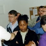 Lezhe, Albania, prayer for Allen Umble and Norma Teles, 2002 (VMC Archives)