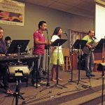 Iglesia Discipular Anabaptista, a 2012 worship team, Harrisonburg, Va. (Lucia Martinez photo)