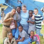 Maranatha students, Jamaica, with MaryBeth Moore, 2013 (VMM Photo)