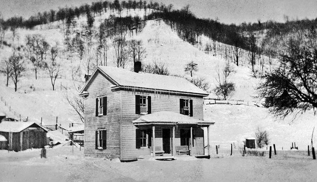 The mission home at Job for West Virginia mission workers in 1928. Photo: Roy Good