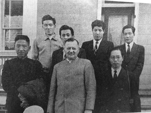 Lloyd Weaver, Sr., (center) ministered to Japanese military officers in Newport News.